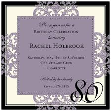 informal invitation birthday party 80th birthday party invitations card invitations ideas