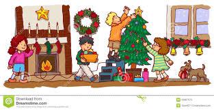 kids celebrating christmas vector stock photos image 35087573