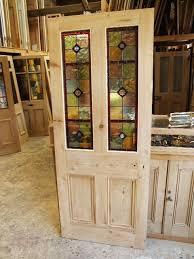 Antique Exterior Door Reclaimed Front Doors Modern Antique Stained Glass Door
