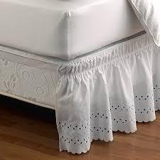 Detachable Bed Skirts Ruffled Eyelet Bed Skirt Bed Bath U0026 Beyond