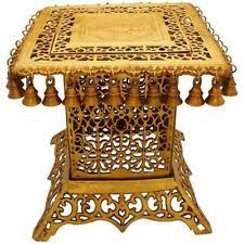 sheesham wood wooden screen partition kashmiri 72x80 4 furniture wood carved brass fitted center table ebay