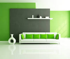 Green Gray Paint Colors Modern Minimalist Living Room Interior Decoration With Green Grey