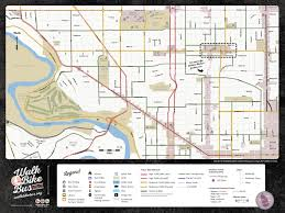 Map Of Spokane Walk Bike Bus Bike