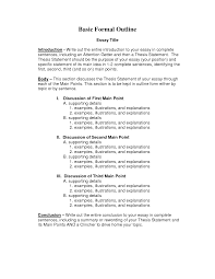Examples Of Essay Outlines Format English Essay Outline Format