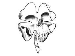 four leaf clover tatoo designs