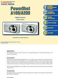 service manual powershot a100 a200 zoom lens autofocus