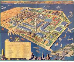San Francisco City Map by San Francisco Radio Kgei History