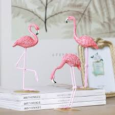 pink flamingo home decor 1 pcs resin pink flamingo home decor figure for girl ins hot home