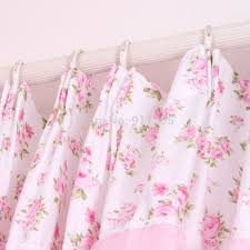 Ruffled Pink Curtains Princess Ruffle Window Treatment For Bedroom Pink Lace