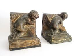 unique book ends pair of 1920s bronze clad decorative bookends by a johnson