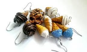 food earrings food jewelry earrings necklaces malyn s food jewelry