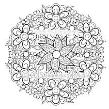 Flower Mandala Coloring Pages Relax While You Create With These Mandala Flowers Coloring Pages