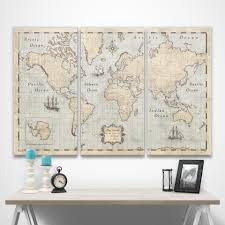 World Map Pins by World Travel Map Pin Board W Push Pins Rustic Vintage Conquest Maps