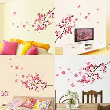 online get cheap beauty wall stickers aliexpress alibaba group peach blossom wall sticker pvc beautiful sakura stickers removable wallpaper home room decoration exc
