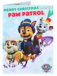 paw patrol christmas card christmas single cards christmas