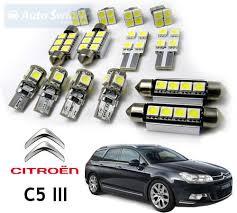 interior car led bulbs replacement kit for citroen c5 iii 11pcs