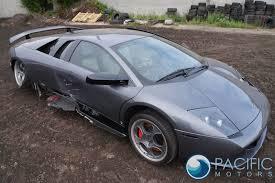Lamborghini Murcielago Interior - rear right stop light interior trim blue delphinus lamborghini