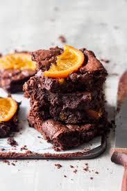 gooey chocolate orange brownies lazy cat kitchen