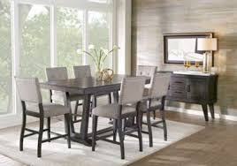 Rooms To Go Dining Table Sets by Hill Creek Black 5 Pc Counter Height Dining Room Dining Room
