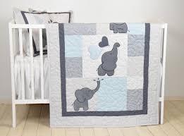 blue baby quilt elephant blanket gray blue crib bedding safari