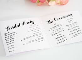 simple wedding program wedding programs