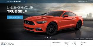 price for ford mustang ford mustang now open for booking rm435k rm565k