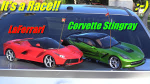remote corvette remote cars laferrari versus chevy corvette stingray