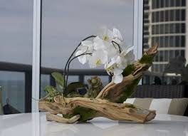orchid centerpieces phalaenopsis orchid on wood centerpiece designed by emilio robba