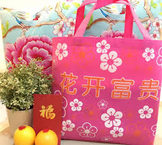 bag new year qoo10 new year gift bag cny non woven carrier recycle