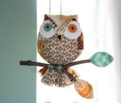 gl owl ornaments twig pine cone sisal owl ornament wall by