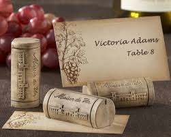 themed place cards maison du vin wine cork place card photo holder with grape themed