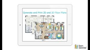 generate and print 2d and 3d floor plans tablet youtube