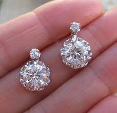 diamond earrings sale antique deco diamond platinum chandelier earrings for sale at