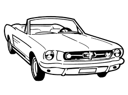 vintage old mustang convertible custom made decal wall
