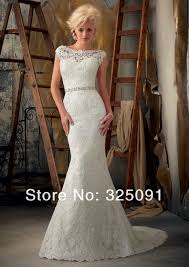 wedding dresses for small bust exquisite cap sleeves mermaid wedding dresses scoop v back