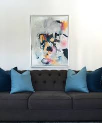 Livingroom Wall Art Abstract Wall Art Teal Large Abstract Canvas Wall Art Picture