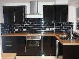 Distressed Black Kitchen Cabinets by Black Kitchen Tile Unusual Royalsapphires Com