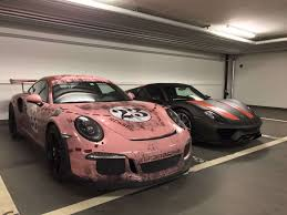 porsche pink the pink pig weathered porsche gt3rs skepple inc
