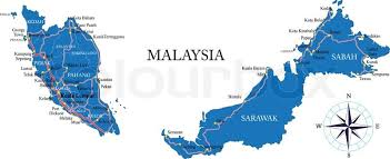 map malaysia vector highly detailed vector map of malaysia with administrative regions