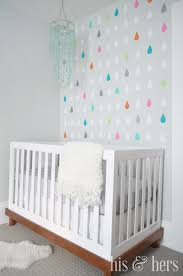 Decals For Walls Nursery by His And Hers Diy Colorful Raindrop Decals Nursery Accent Wall