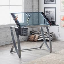 Glass Top Drafting Drawing Table Drafting Table Setup Home Table Decoration