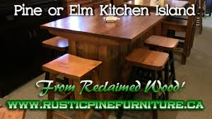 rustic pine kitchen island from reclaimed pine mennonite