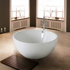 Large Round Glass Vase Bathroom Classical White Scrylic Bathroom Tub Combined With