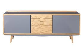 Buffet design scandinave en bois laqué en chªne rouge