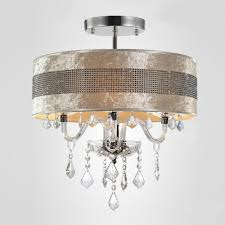 Glass Droplet Chandelier Stunning Plastic Crystal Embedded Shade Clear Crystal Droplets