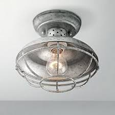 Galvanized Vanity Light Outdoor Flush Mount Lighting Fixtures For Patio Or Porch Lamps
