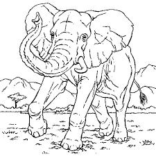 Coloriage Éléphant course en Ligne Gratuit à imprimer
