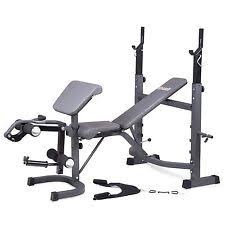 Olympic Bench Set With Weights Marcy Strength Training Benches Ebay