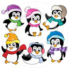 cartoon cute penguins collection by clairev toon vectors eps 38638