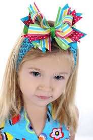 big bows for hair summer brights stripes polkas big bow baby headband summer baby